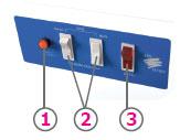Вытяжной шкаф: Пульт управления модуля очистки